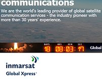 Designs to promote the Inmarsat GX Launch