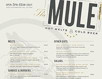 THE MULE: restaurant menu
