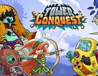 Tower Conquest Logo Design and Promotional Materials