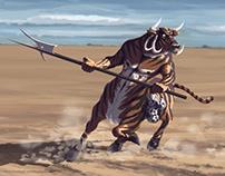 Centaur - character design process, concept art