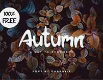 Autumn Typeface 100% FREE for Commercial Use