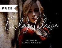 FREE | Eisley Claise - Handwriting Font
