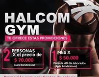 Halcom gym Promoción
