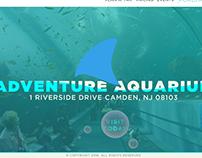 Adventure Aquarium website concept