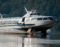 Hydrofoil boat in Hungary