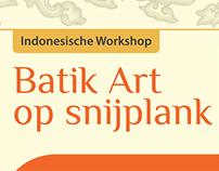 Batik Art op Snijplank - Poster
