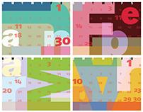Typographic Calendar (2016)