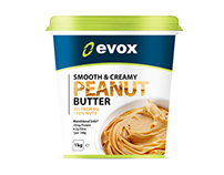 High Protein Peanut Butter Packaging Design