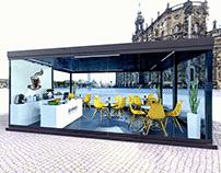 3D visualization of the glass winter garden