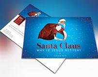 Santa Christmas Sermon Postcard Template