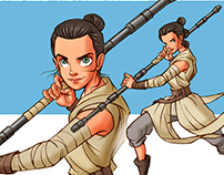 The Force Awakens:Tribute_2D Animation Character art/