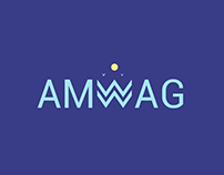 amwag logo design and brand identity