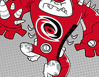 Carolina Hurricanes themed superhero