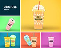 Juice Cups Mockup