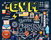 GYM Wall Poster Design