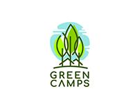 Green Camps Logo Design