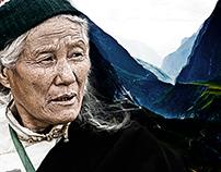 retouching tibet women face