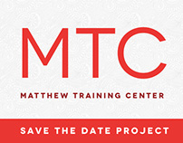 Matthew Training Center Save the Date Design
