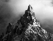 Black and white Dolomites