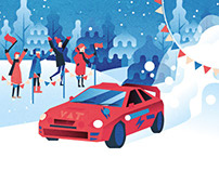 Winter Rally illustrations