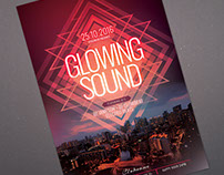 Glowing Sound Flyer Template