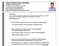 Syed Abdulrehman Mujtaba Resume