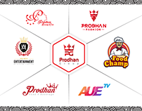Prodhan Group Logo design Template