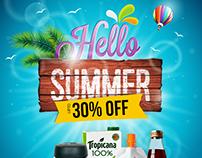 Hello Summer Mailer Design for Grocermax.com