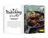 Food Article Magazine Spread Designs
