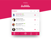 Dribbble App Ui Design