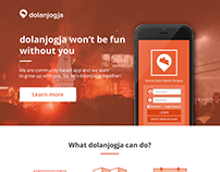 dolanjogja App Landing Page
