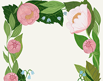 Floral Wreath Greeting Card
