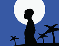 Moonlight Minimalist Poster