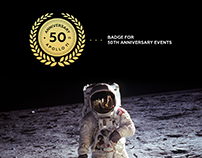 Apollo 11 - 50th Anniversary badge