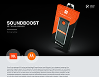 Packaging design for Soundboost JBL x Motorola