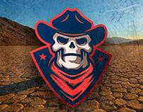 Cowboy sports logo mascot