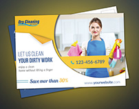 #Cleaning Service Postcard