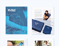 Brochure Design. MyMat by Healing House. Switzerland.