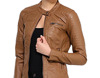 FashioninVogue - brown leather jacket for men and women