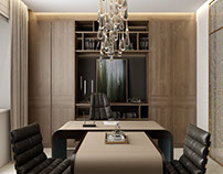 CEO Office Design Architectural Rendering by ArchiCGI