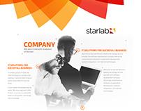 IT company page concept