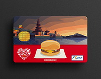 Flazz Card Design McDonalds Indonesia 25th Anniversary