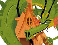 Mascotte dragon pour parc aventure