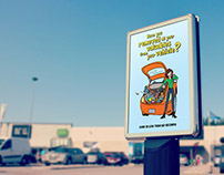 Illustration Poster Car Safety Campaign