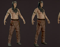 Game ready character - Old Tonto
