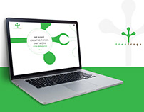 Treefrog Web Homepage Design