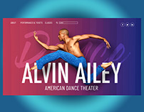 Alvin Ailey Landing Page