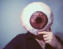Eyeball Head Mask - Paper Model