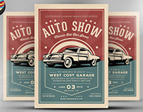 Old Classic Car Show Flyer Template