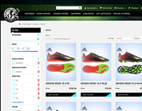 Online store for soccer accessories supplier